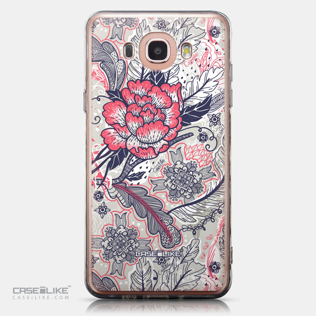CASEiLIKE Samsung Galaxy J7 (2016) back cover Vintage Roses and Feathers Beige 2251