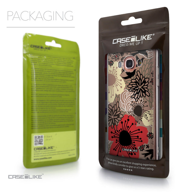 Packaging - CASEiLIKE Samsung Galaxy J7 (2016) back cover Japanese Floral 2254