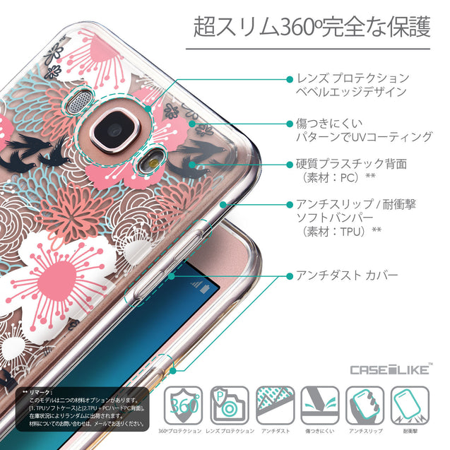 Details in Japanese - CASEiLIKE Samsung Galaxy J7 (2016) back cover Japanese Floral 2255