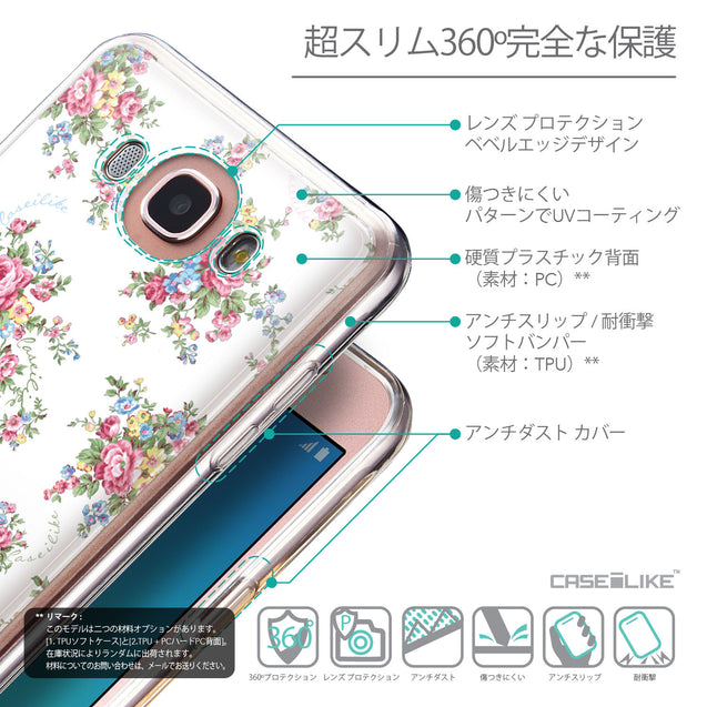Details in Japanese - CASEiLIKE Samsung Galaxy J7 (2016) back cover Floral Rose Classic 2260