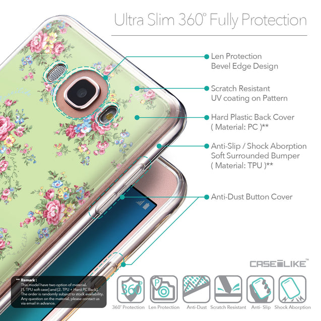 Details in English - CASEiLIKE Samsung Galaxy J7 (2016) back cover Floral Rose Classic 2262