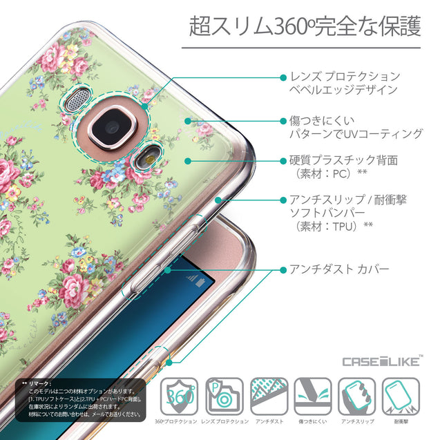 Details in Japanese - CASEiLIKE Samsung Galaxy J7 (2016) back cover Floral Rose Classic 2262