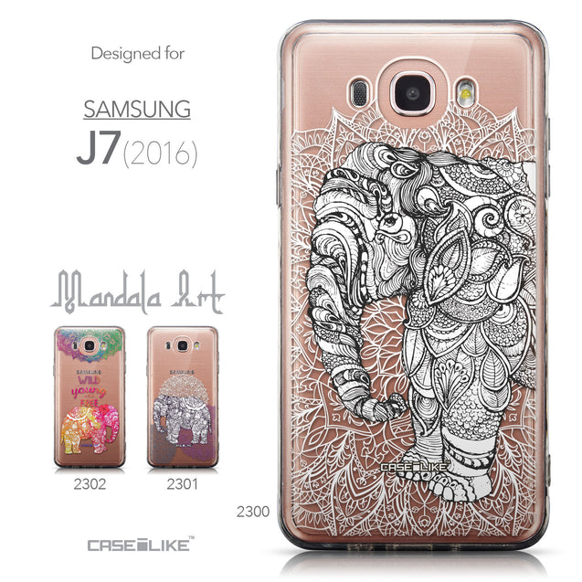 Collection - CASEiLIKE Samsung Galaxy J7 (2016) back cover Mandala Art 2300