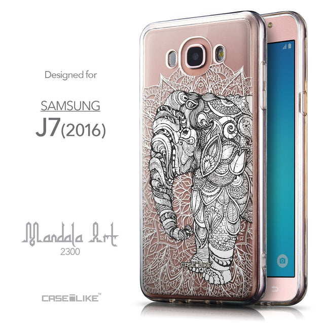 Front & Side View - CASEiLIKE Samsung Galaxy J7 (2016) back cover Mandala Art 2300