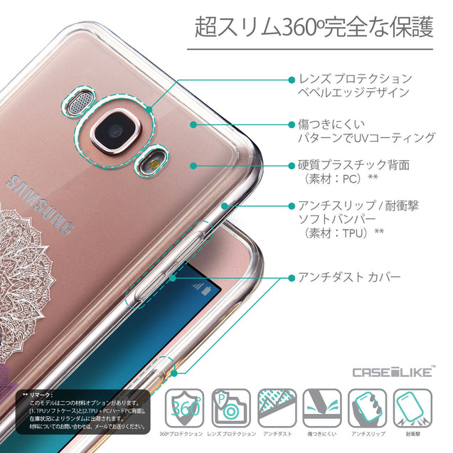 Details in Japanese - CASEiLIKE Samsung Galaxy J7 (2016) back cover Mandala Art 2301