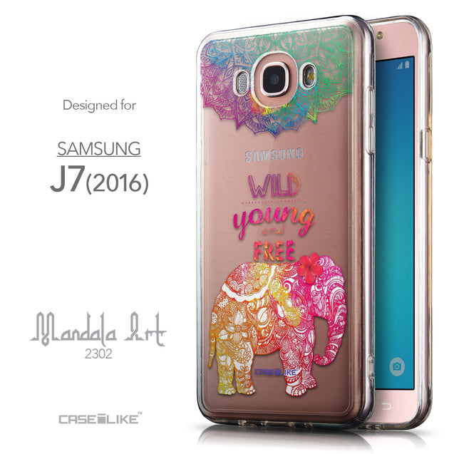Front & Side View - CASEiLIKE Samsung Galaxy J7 (2016) back cover Mandala Art 2302