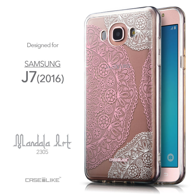 Front & Side View - CASEiLIKE Samsung Galaxy J7 (2016) back cover Mandala Art 2305