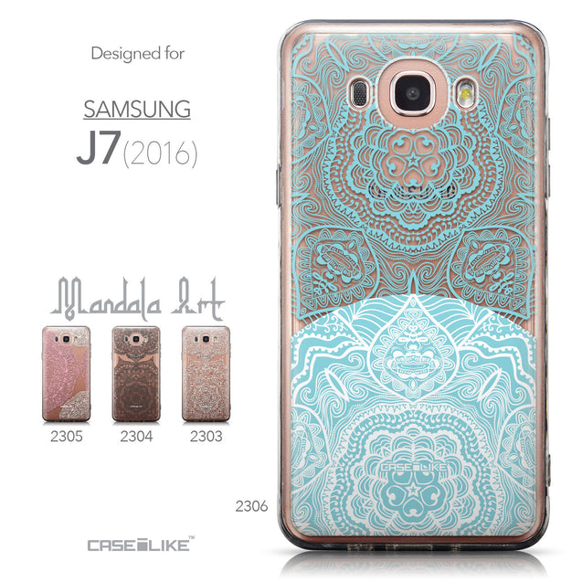 Collection - CASEiLIKE Samsung Galaxy J7 (2016) back cover Mandala Art 2306