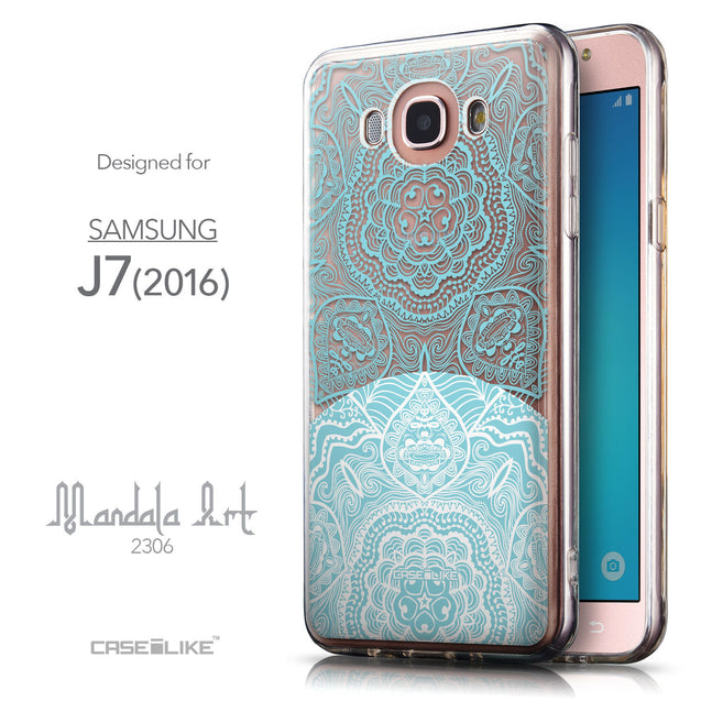 Front & Side View - CASEiLIKE Samsung Galaxy J7 (2016) back cover Mandala Art 2306