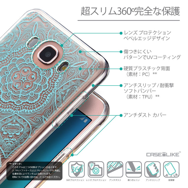 Details in Japanese - CASEiLIKE Samsung Galaxy J7 (2016) back cover Mandala Art 2306