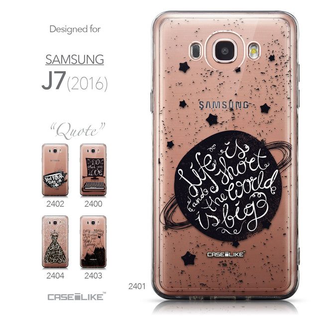 Collection - CASEiLIKE Samsung Galaxy J7 (2016) back cover Quote 2401
