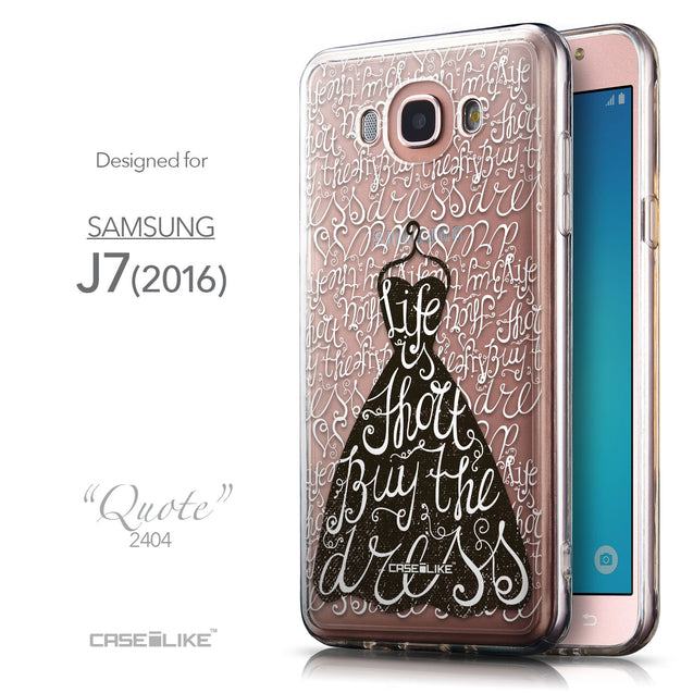 Front & Side View - CASEiLIKE Samsung Galaxy J7 (2016) back cover Indian Tribal Theme Pattern 2053