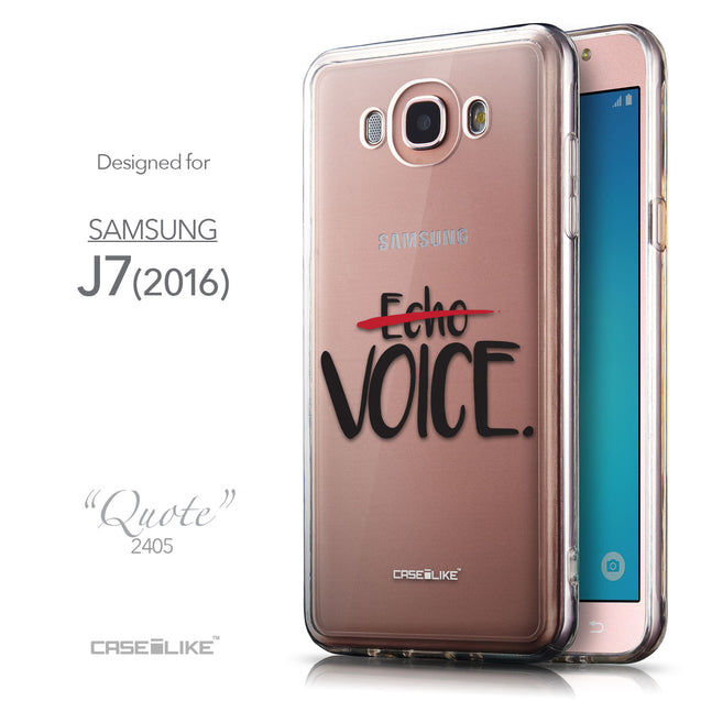Front & Side View - CASEiLIKE Samsung Galaxy J7 (2016) back cover Quote 2405