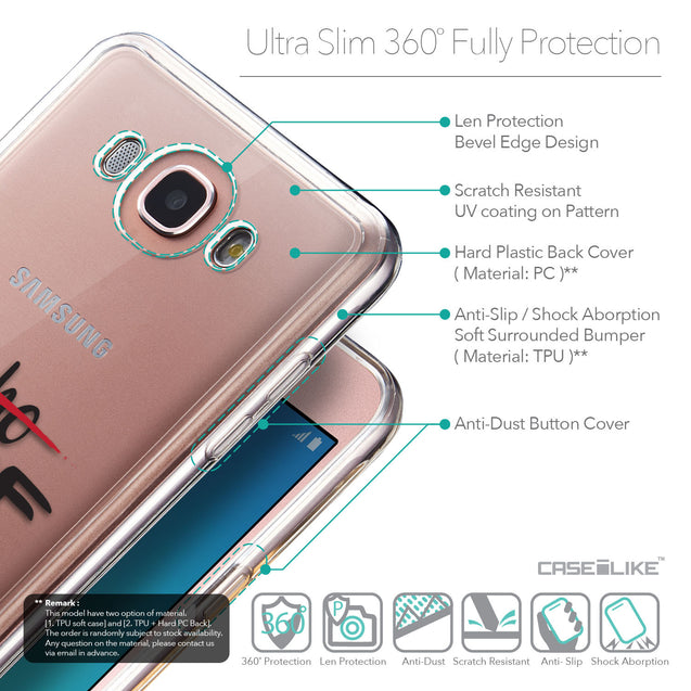 Details in English - CASEiLIKE Samsung Galaxy J7 (2016) back cover Quote 2405