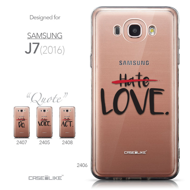 Collection - CASEiLIKE Samsung Galaxy J7 (2016) back cover Quote 2406