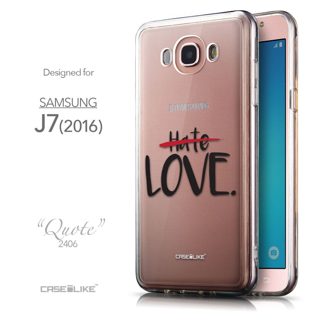 Front & Side View - CASEiLIKE Samsung Galaxy J7 (2016) back cover Quote 2406