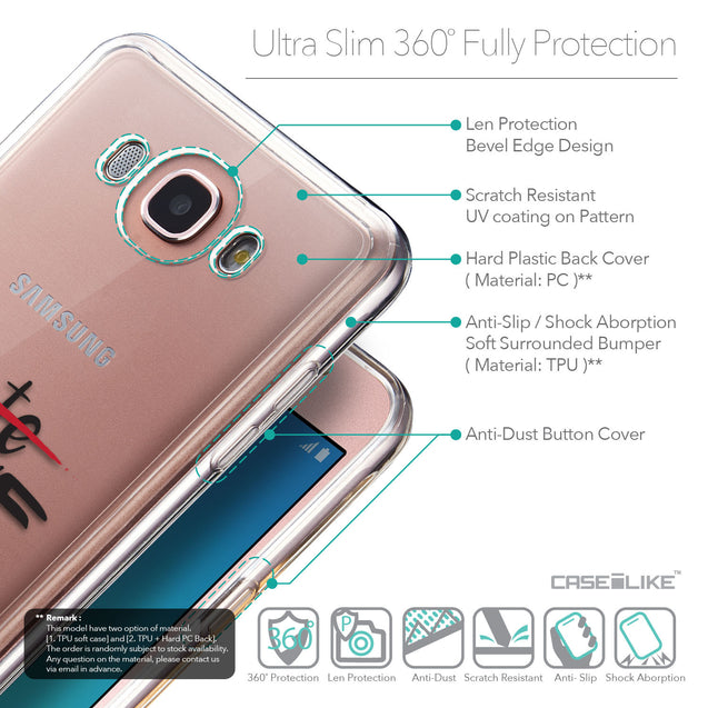 Details in English - CASEiLIKE Samsung Galaxy J7 (2016) back cover Quote 2406