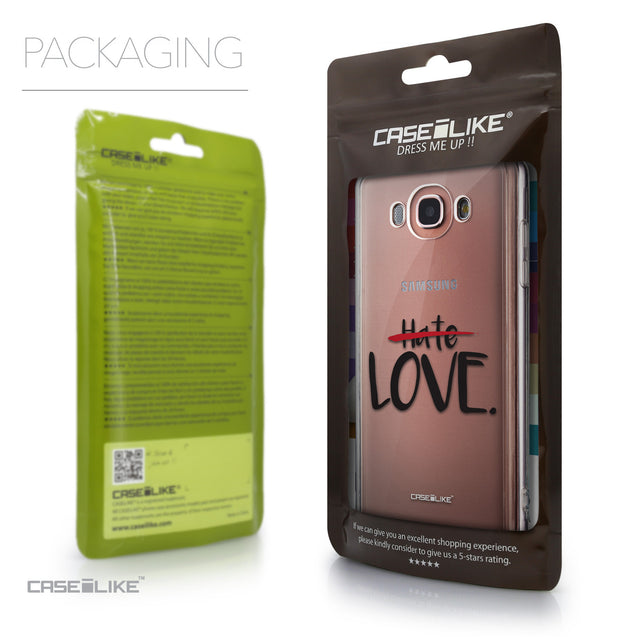 Packaging - CASEiLIKE Samsung Galaxy J7 (2016) back cover Quote 2406