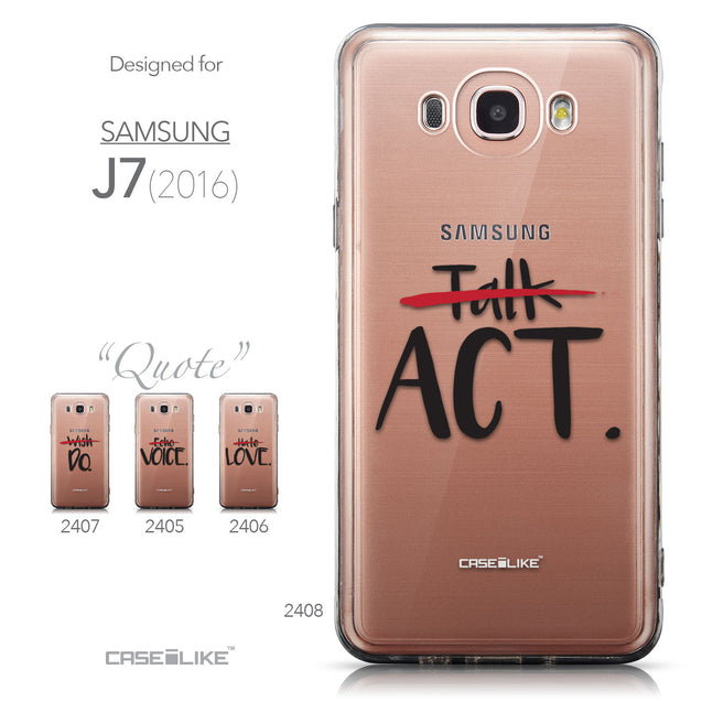 Collection - CASEiLIKE Samsung Galaxy J7 (2016) back cover Quote 2408