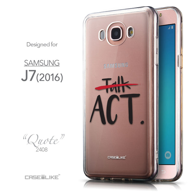 Front & Side View - CASEiLIKE Samsung Galaxy J7 (2016) back cover Quote 2408