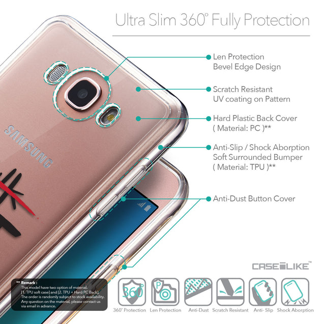 Details in English - CASEiLIKE Samsung Galaxy J7 (2016) back cover Quote 2408