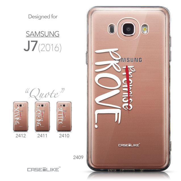Collection - CASEiLIKE Samsung Galaxy J7 (2016) back cover Quote 2409