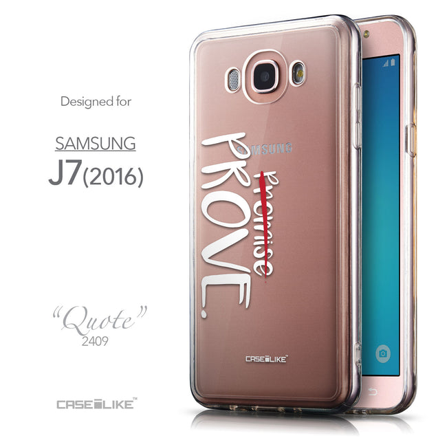 Front & Side View - CASEiLIKE Samsung Galaxy J7 (2016) back cover Quote 2409
