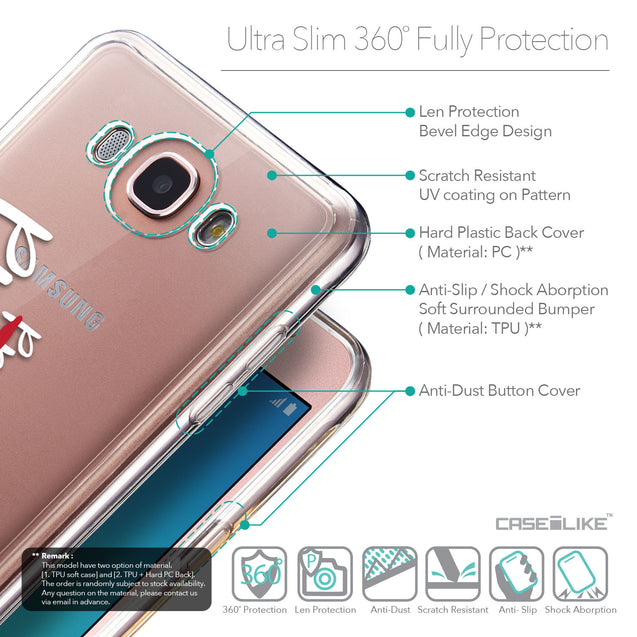 Details in English - CASEiLIKE Samsung Galaxy J7 (2016) back cover Quote 2409