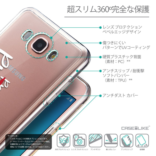 Details in Japanese - CASEiLIKE Samsung Galaxy J7 (2016) back cover Quote 2409