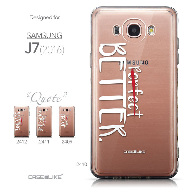 Collection - CASEiLIKE Samsung Galaxy J7 (2016) back cover Quote 2410