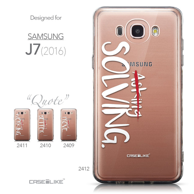 Collection - CASEiLIKE Samsung Galaxy J7 (2016) back cover Quote 2412