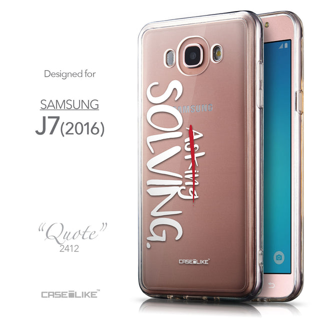 Front & Side View - CASEiLIKE Samsung Galaxy J7 (2016) back cover Quote 2412