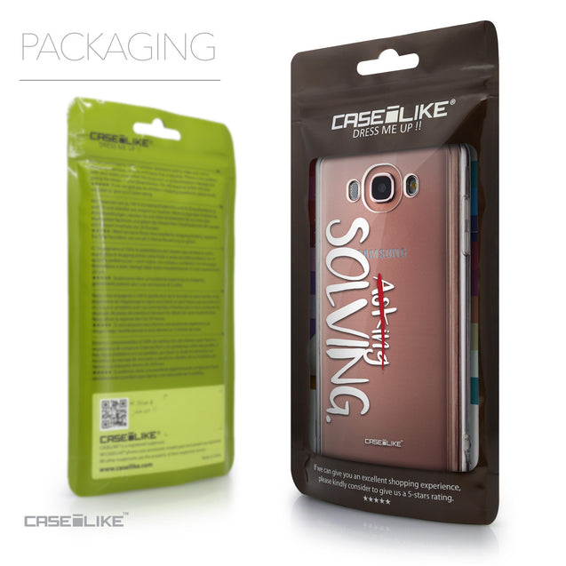 Packaging - CASEiLIKE Samsung Galaxy J7 (2016) back cover Quote 2412