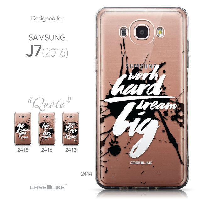 Collection - CASEiLIKE Samsung Galaxy J7 (2016) back cover Quote 2414
