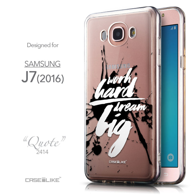 Front & Side View - CASEiLIKE Samsung Galaxy J7 (2016) back cover Quote 2414