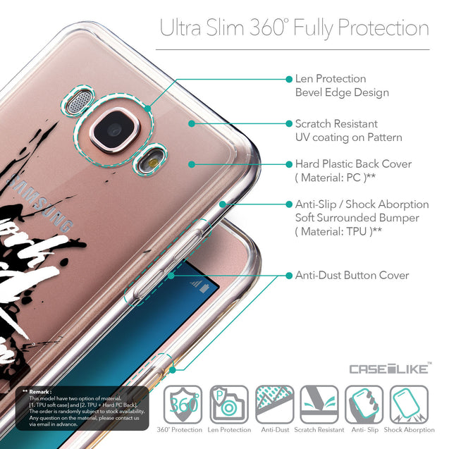 Details in English - CASEiLIKE Samsung Galaxy J7 (2016) back cover Quote 2414