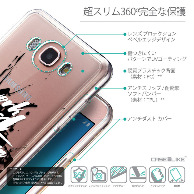 Details in Japanese - CASEiLIKE Samsung Galaxy J7 (2016) back cover Quote 2414