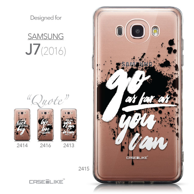 Collection - CASEiLIKE Samsung Galaxy J7 (2016) back cover Quote 2415