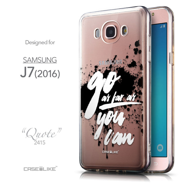 Front & Side View - CASEiLIKE Samsung Galaxy J7 (2016) back cover Quote 2415