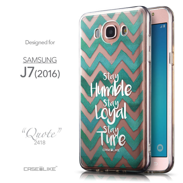 Front & Side View - CASEiLIKE Samsung Galaxy J7 (2016) back cover Quote 2418
