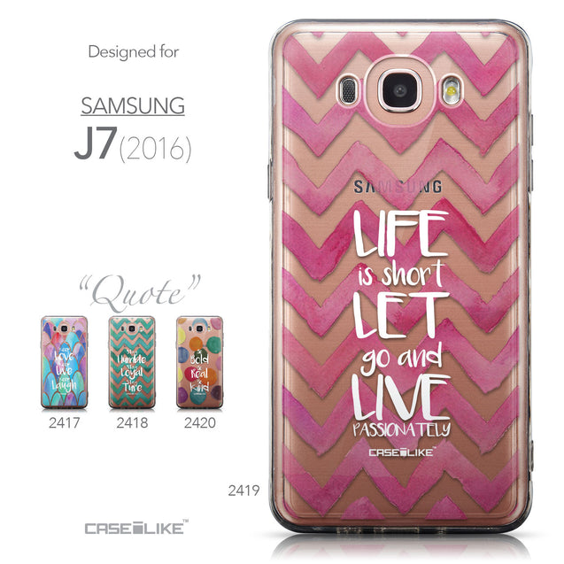 Collection - CASEiLIKE Samsung Galaxy J7 (2016) back cover Quote 2419