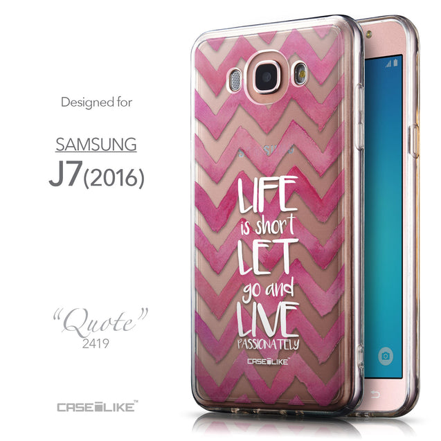 Front & Side View - CASEiLIKE Samsung Galaxy J7 (2016) back cover Quote 2419