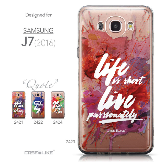 Collection - CASEiLIKE Samsung Galaxy J7 (2016) back cover Quote 2423