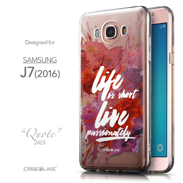 Front & Side View - CASEiLIKE Samsung Galaxy J7 (2016) back cover Quote 2423