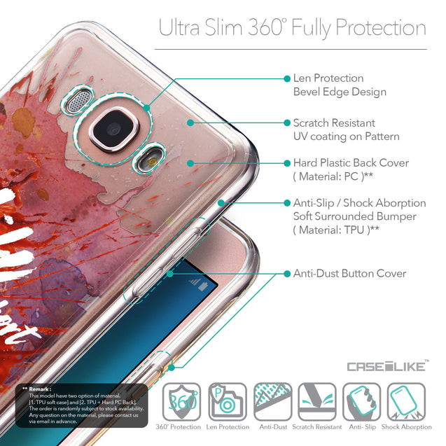 Details in English - CASEiLIKE Samsung Galaxy J7 (2016) back cover Quote 2423