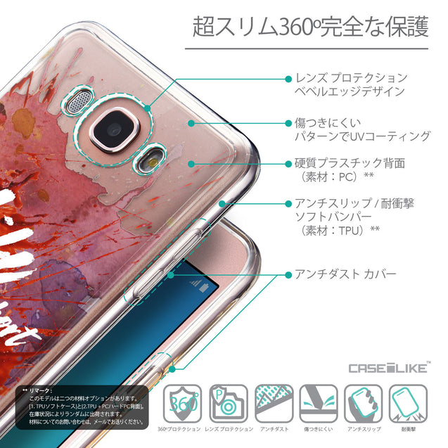 Details in Japanese - CASEiLIKE Samsung Galaxy J7 (2016) back cover Quote 2423