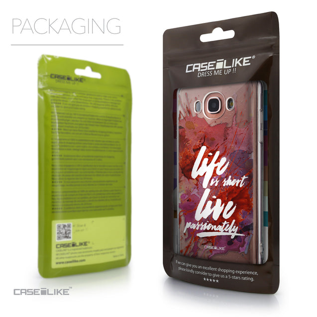 Packaging - CASEiLIKE Samsung Galaxy J7 (2016) back cover Quote 2423