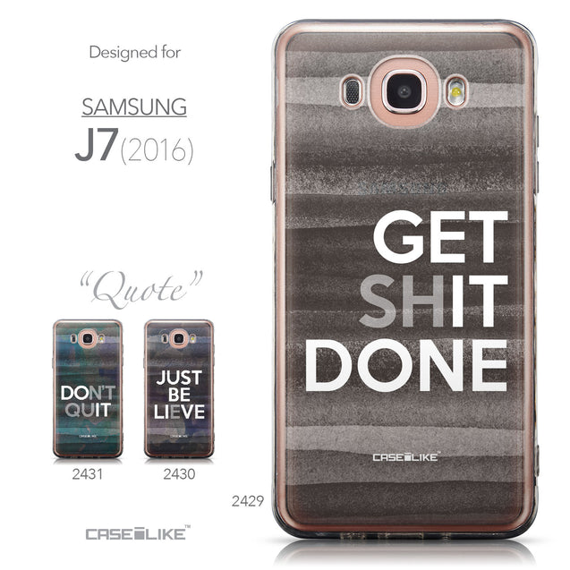 Collection - CASEiLIKE Samsung Galaxy J7 (2016) back cover Quote 2429