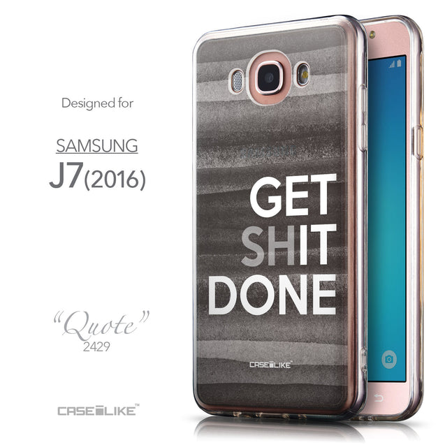Front & Side View - CASEiLIKE Samsung Galaxy J7 (2016) back cover Quote 2429