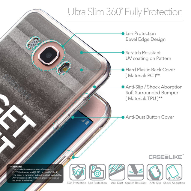 Details in English - CASEiLIKE Samsung Galaxy J7 (2016) back cover Quote 2429